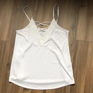 Worn once! White tank top